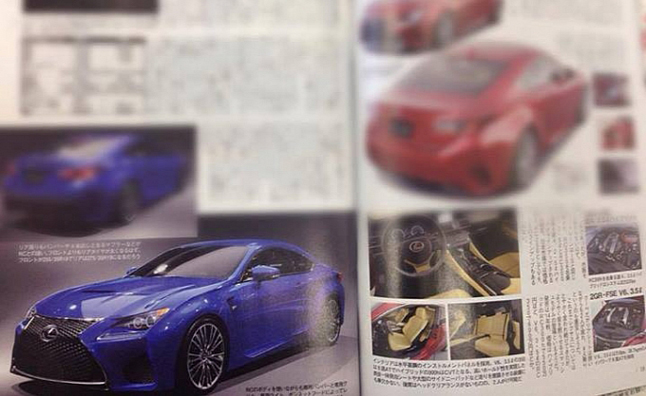 Lexus RC-F Picture Leaked