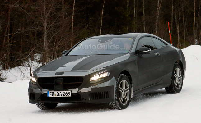 Mercedes S-Class Coupe Spied Winter Testing