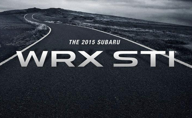 2015 Subaru WRX STI Confirmed for Detroit Debut