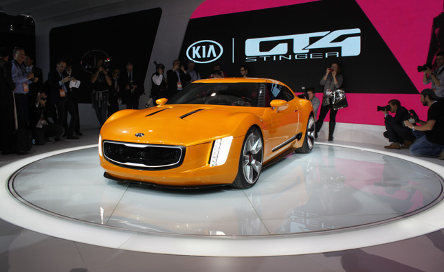 Kia GT4 Stinger Concept Rides on 'Custom' Chassis into Detroit