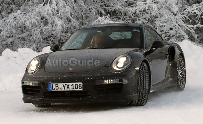 Porsche 911 Coupe, Turbo Spied Winter Testing
