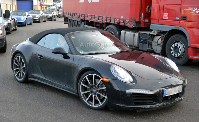 Porsche 911 Cabriolet Spy Photos Show Refreshed Style