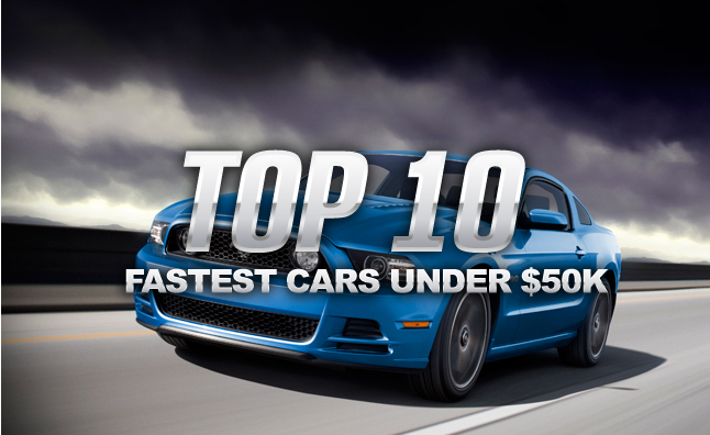 Top 10 Fastest Cars Under $50,000