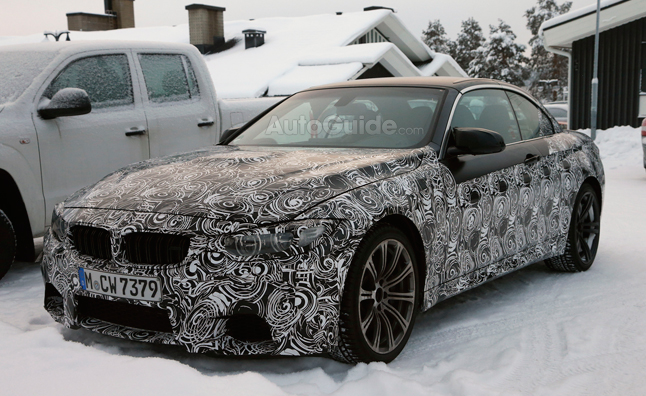 BMW 4 Series Convertible Spied Winter Testing
