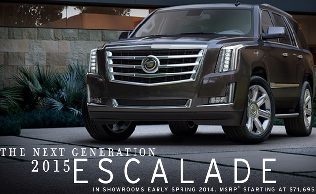 2015 Cadillac Escalade Gets $3,725 Price Increase