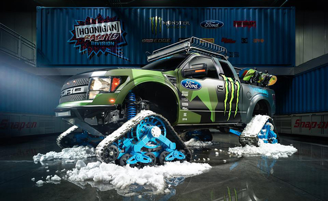 Ford F-150 RaptorTRAX is a Snowboarder's Dream