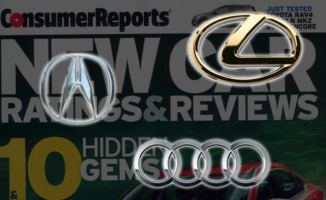 Lexus, Acura and Audi Top 2014 Consumer Reports Brand Report Card
