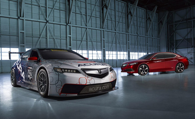The 2015 Acura TLX GT Race Car and TLX Prototype