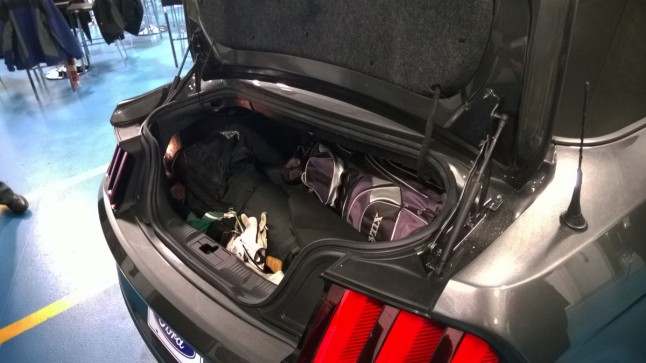 2015 Ford Mustang Trunk Space