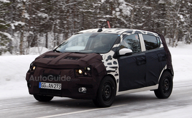 2015 Chevrolet Spark Spy Photos Show City Car Testing in Snow