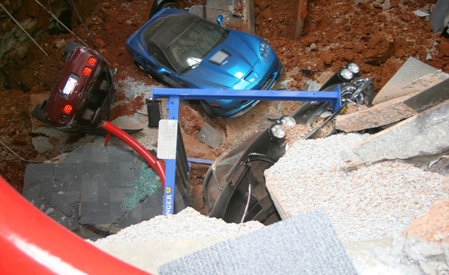 Corvette Museum to Display Sinkhole-Damaged Cars