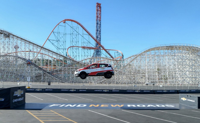 Rob Dyrdek Sets Record for Longest Reverse Car Jump