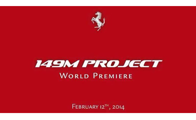 Ferrari 149M Project Teased Before February 12 Debut