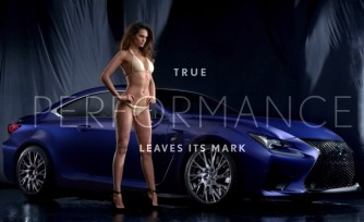 Lexus RC F Shows Off its Curves in Sports Illustrated Swimsuit Issue  Video
