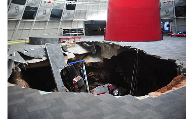 National Corvette Museum Sinkhole Claims Eight Cars