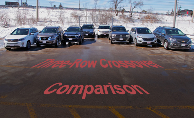 2014 Three-Row Crossover Comparison Test
