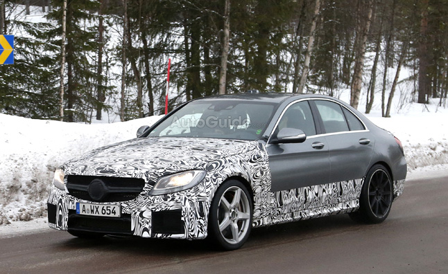 2015 Mercedes C63 AMG Spied with New V8 Engine