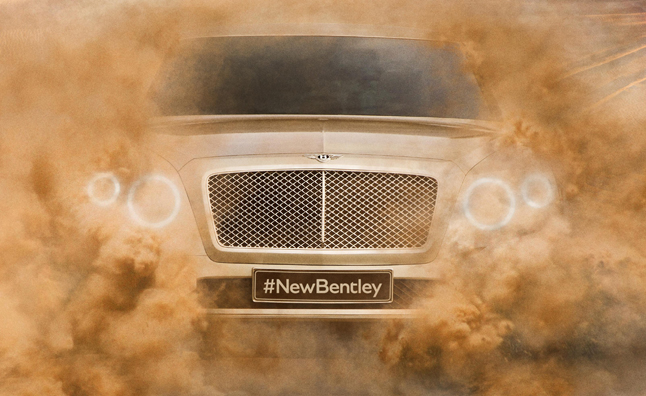Bentley SUV Teased With New, Less Ugly Look