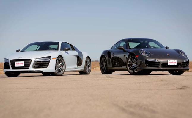 porsche 911 turbo vs audi r8