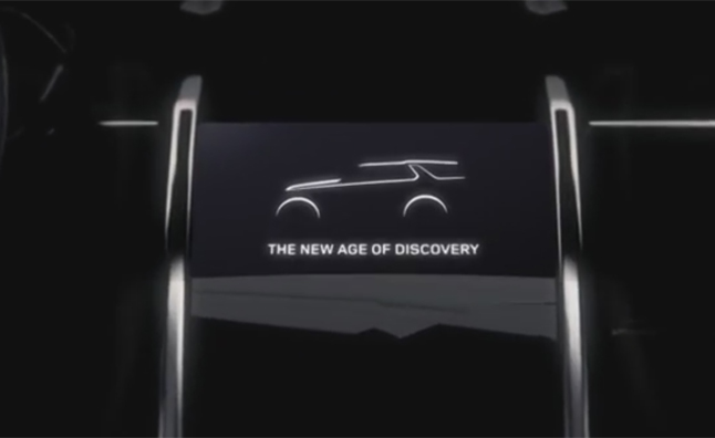 Land Rover Discovery Concept Teased Ahead of NY Auto Show Debut