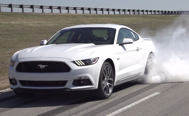 2015 Mustang Burnout Control Holds Front Brakes