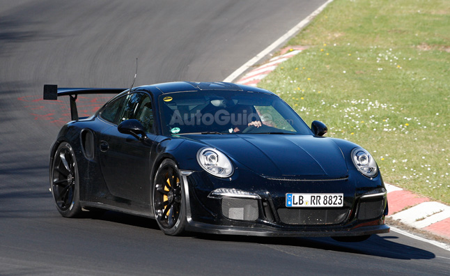 Porsche 911 GT3 RS Spied with Fire Proof Engine
