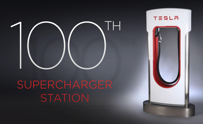 Tesla Marks 100th Supercharger Station