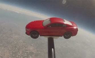 Ford Mustang Goes to Space