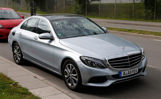 Mercedes-Benz C-Class Plug-in Hybrid Spied Testing