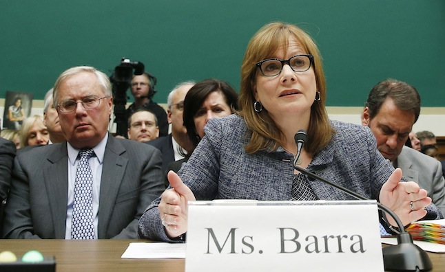 Michael Millikin GM's general counsel since 2009 and a key counselor to Chief Executive Mary Barra looks on as Barra testifies on Capitol Hill in Washington