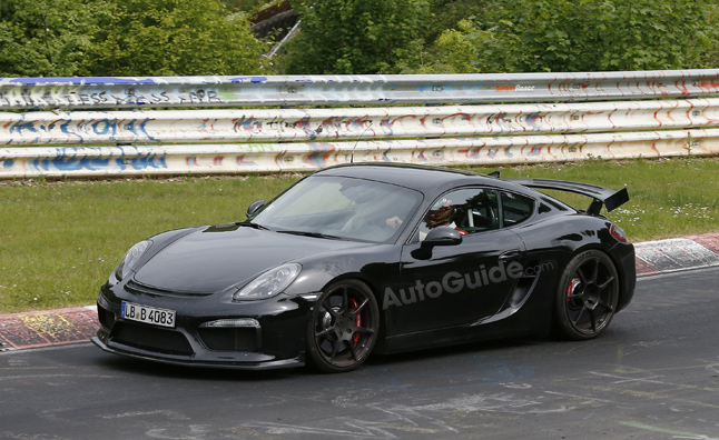 Porsche Cayman GT4 Caught Testing at the 'Ring