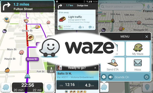 Waze-collage
