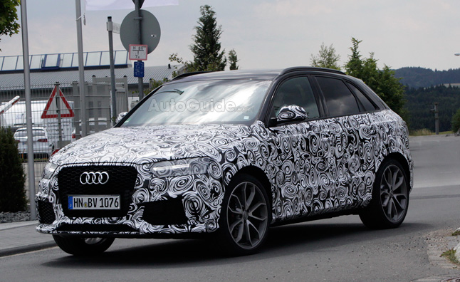 Audi RS Q3 Spied Testing with Minor Updates