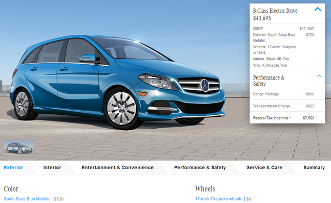 2015 Mercedes-Benz B-Class ED Features Range Extender Option