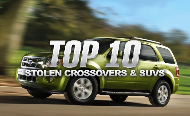 Top 10 Stolen Crossovers and SUVs