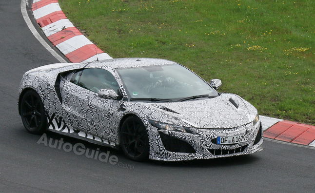 Production Acura NSX Spied Nurburgring Testing