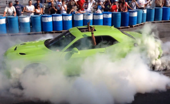 Ralph Gilles Does Ridiculous Burnout in Hellcat Challenger