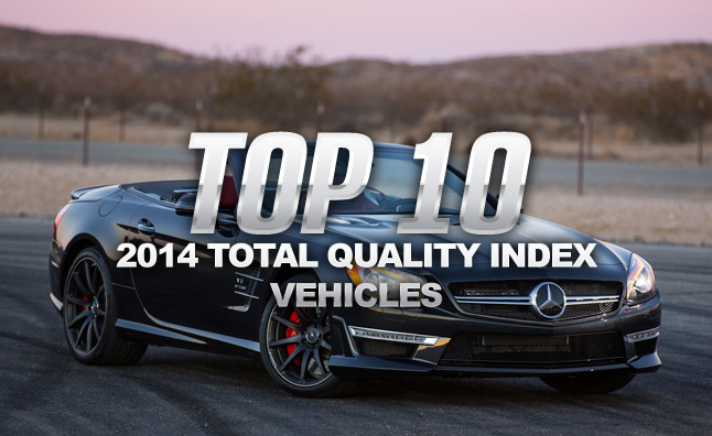 Top 10 2014 Total Quality Index Vehicles