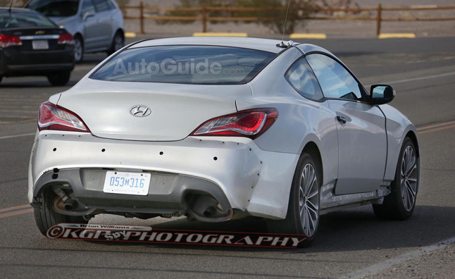 Sporting Some Unique Bodywork The 2016 Hyundai Genesis Coupe Has Been  Caught Undergoing Early Testing. The Next Generation Sports Car ...