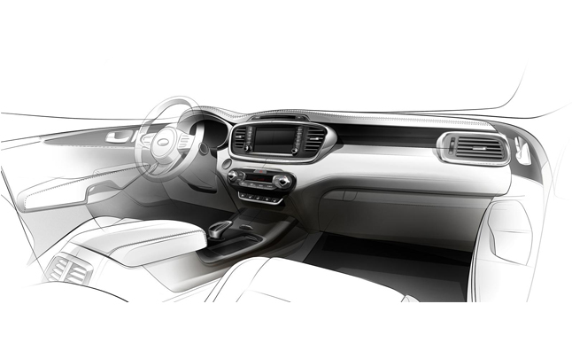 Next Generation Kia Sorento Interior Teased