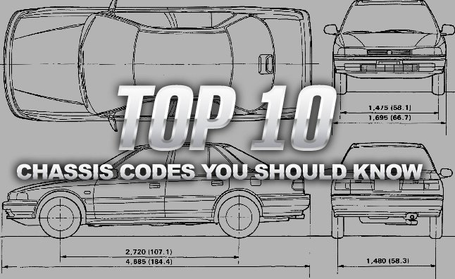 Top 10 chassis codes