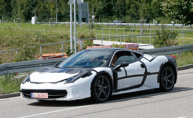 Ferrari 458 M Spied Testing with Twin-Turbo Engine
