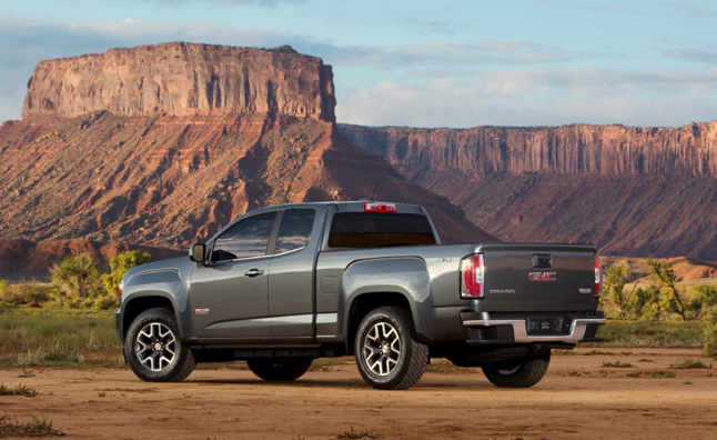 2015-GMC-Canyon-AT-Three-Quarter-Rear-View-003-medium
