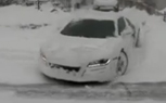 Video: Driving an Audi R8 in a Blizzard