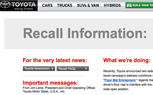 PSA: Toyota Launches Recall Website