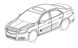 2012 Chevy Malibu Revealed in Patent Drawings?