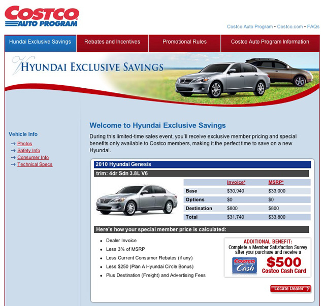 costco used car. Black Bedroom Furniture Sets. Home Design Ideas