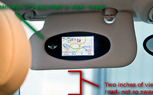Future Upgrade – a GPS Built Into Your Vehicle's Visor?