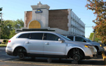 Lincoln MKT Press Car Gets Wheels Jacked in Detroit