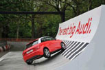 Audi Stunt Drivers Roll A1 During Demonstration